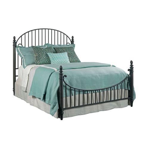 Catlins Queen Metal Bed - Complete