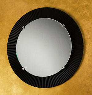 "Round Engraved Mirror- 3"" Border Product Image"