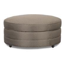 See Details - Round Accent Cocktail Ottoman - (A3099-5)