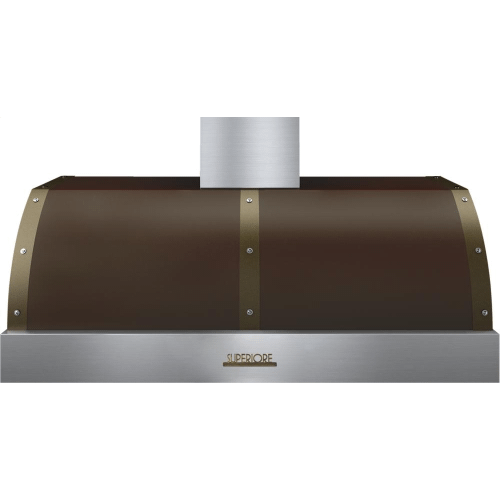 Hood DECO 48'' Brown matte, Bronze 1 blower, electronic buttons control, baffle filters