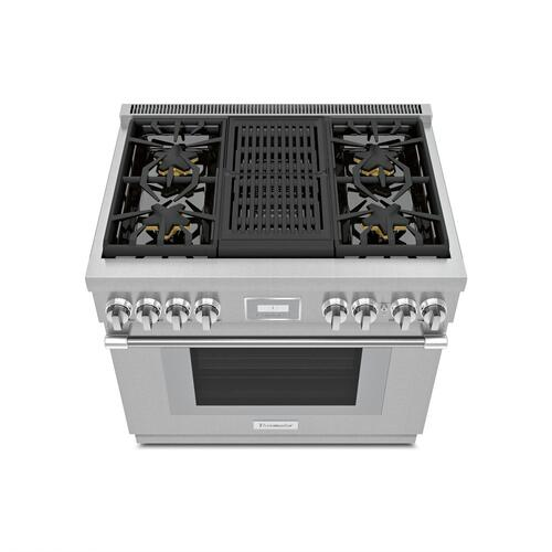 Gas Professional Range 36'' Pro Harmony® Standard Depth Stainless Steel PRG364WLH