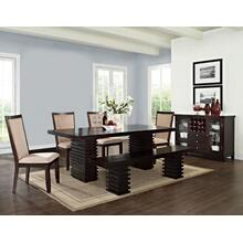 Briana Camel 6 Piece Set (Table, Bench & 4 Side Chairs)