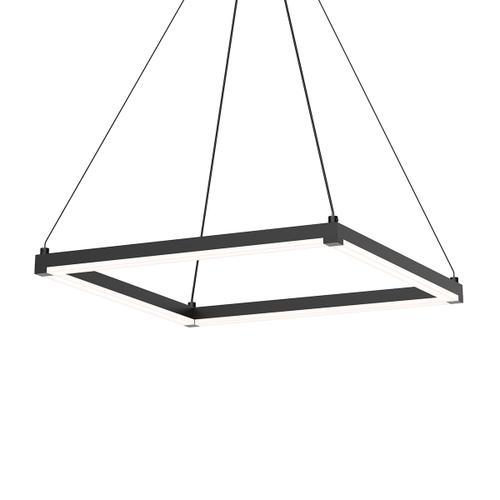 """Sonneman - A Way of Light - Stix Square LED Pendant [Size=19"""", Color/Finish=Satin Black]"""