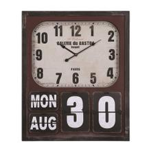 Rectangular wall clock with glass