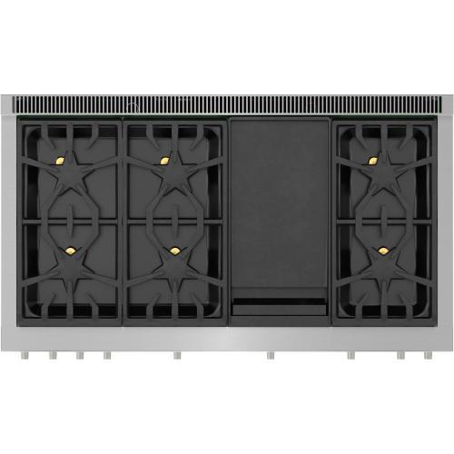 Thermador - Dual Fuel Professional Range 48'' PRD486WDHU