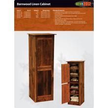 See Details - Barnwood Linen Cabinet