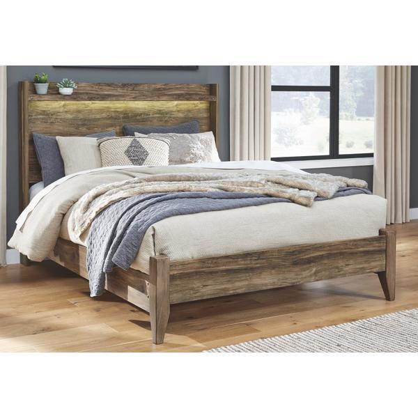 Rusthaven Queen Panel Bed