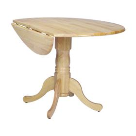 Round Dropleaf Pedestal Table in Natural