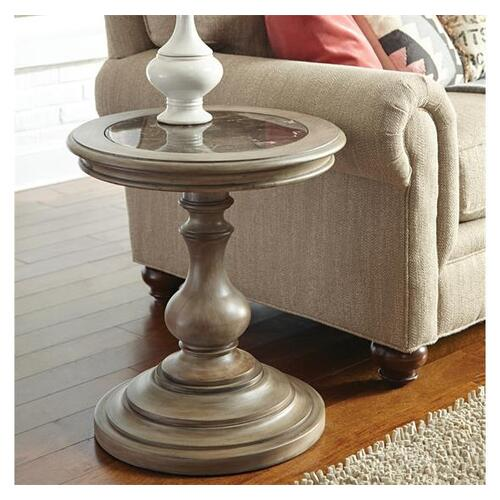 Corinne Round Side Table Sun-drenched Acacia finish