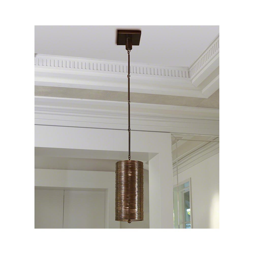 Coil Single Pendant-Bronze