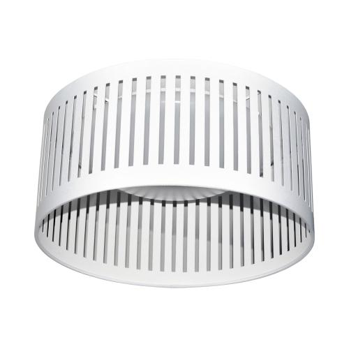 14w Slit Drum LED Flush Mount, White