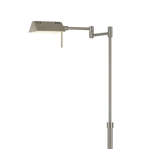 Cal Lighting & Accessories - Clemson Metal LED 10W, 780 Lumen, 3K Pharmacy Swing Arm Adjustable Floor Lamp With Dimmer Switch