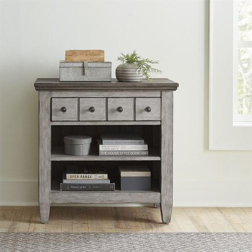 1 Drawer Night Stand w/ Charging Station