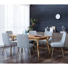 Mira/Mia 7pc Dining Set, Sheesham/Light Grey
