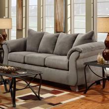 Aruca Sensations Grey Microfiber Pillow Back Sofa