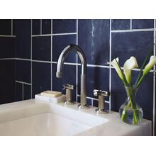 Sink Faucet, Cross Handles - Nickel Silver