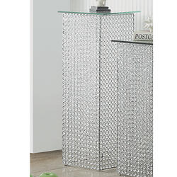 Crystal Pedestal Table