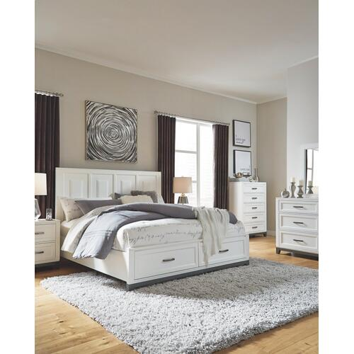Brynburg King Panel Bed With 2 Storage Drawers