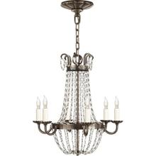 Visual Comfort CHC1407SHS-SG E F Chapman Paris Flea Market 6 Light 16 inch Sheffield Silver Chandelier Ceiling Light