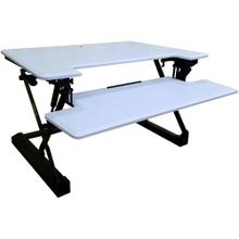 See Details - Hanover 35-In. Wide White Tabletop Sit or Stand Lift Desk with Adjustable Height for Offices, Schools, and Writing Stations, HSD0402-WHT