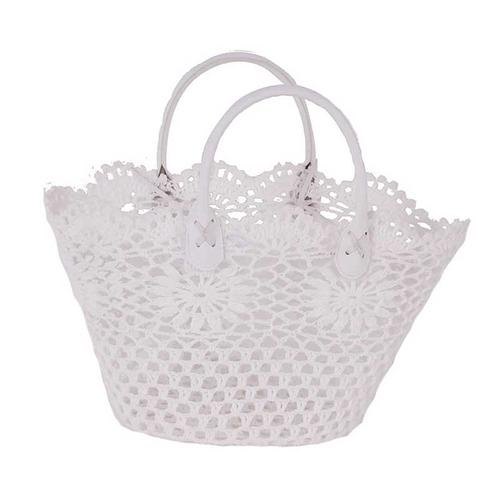 Cotton/Resin Lace Basket