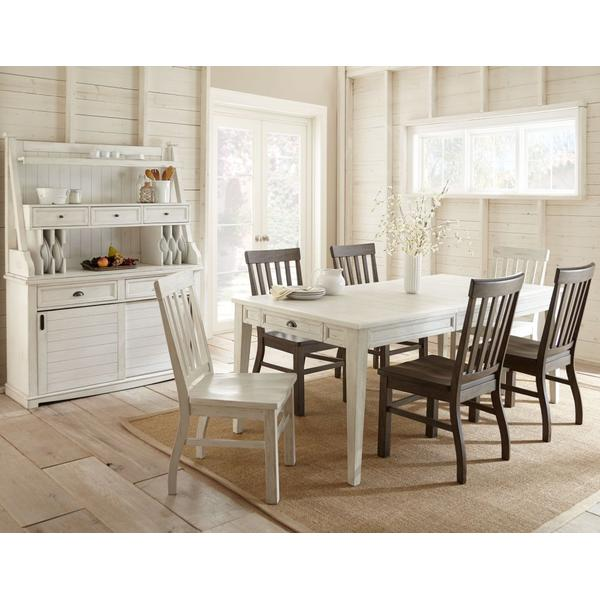 Cayla 7 Piece Dining Set White(Table & 6 Side Chairs)