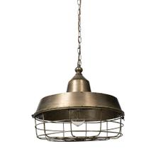 Tahla 14x 14.5 Gold Toned Metal Cage Pendant Light