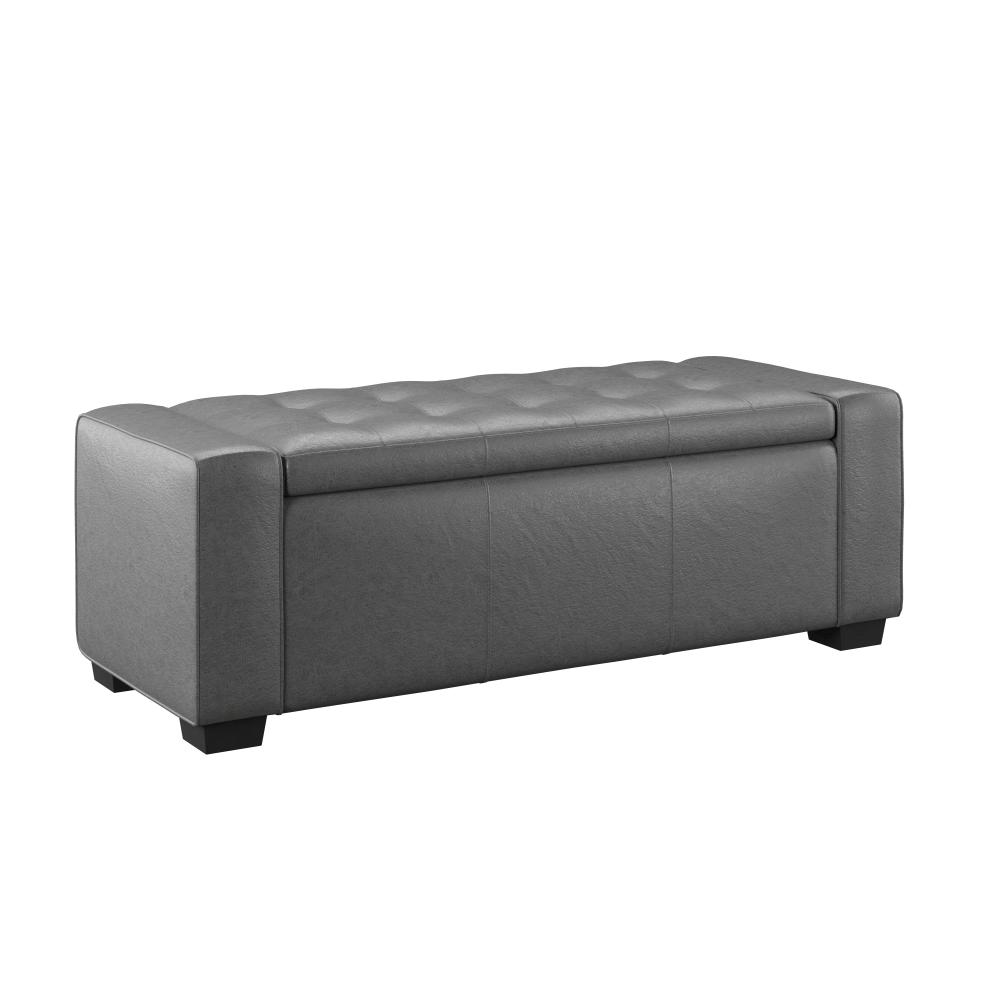 Gavyn Storage Bench - Gray