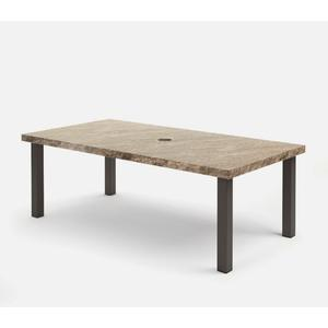 "42"" x 82"" Rectangular Dining Table (with Hole) Ht: 27.75"" Post Aluminum Base (Model # Includes Both Top & Base)"