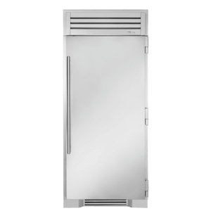 True Residential36 Inch Solid Stainless Door Right Hinge Freezer Column