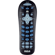 3 device black universal remote and partially backlit