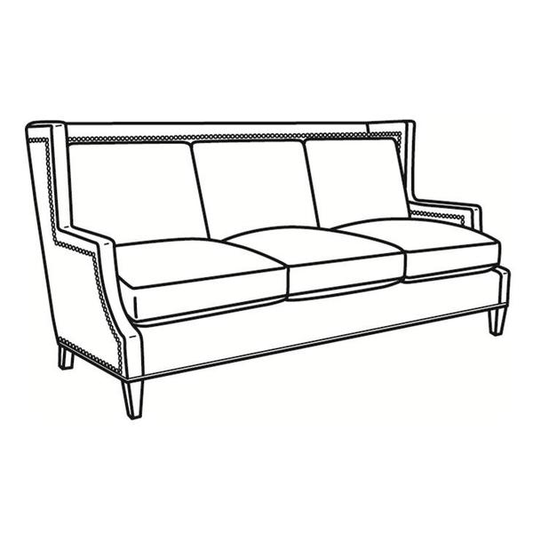 See Details - Leather Long Sofa