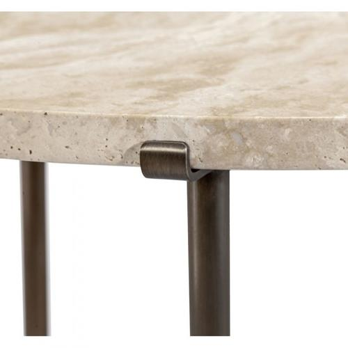 Arlington Lamp Table - Travertine