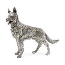 See Details - Antique White Brass German Shepherd Dog