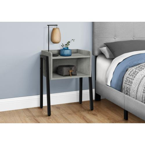"""Gallery - ACCENT TABLE - 23""""H / GREY / BLACK METAL"""