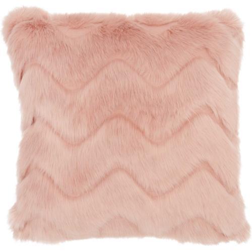"Faux Fur Vv056 Blush 16"" X 16"" Throw Pillow"