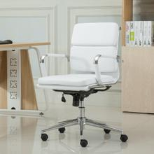 Modica Chromel Contemporary Low Back Office Chair, White