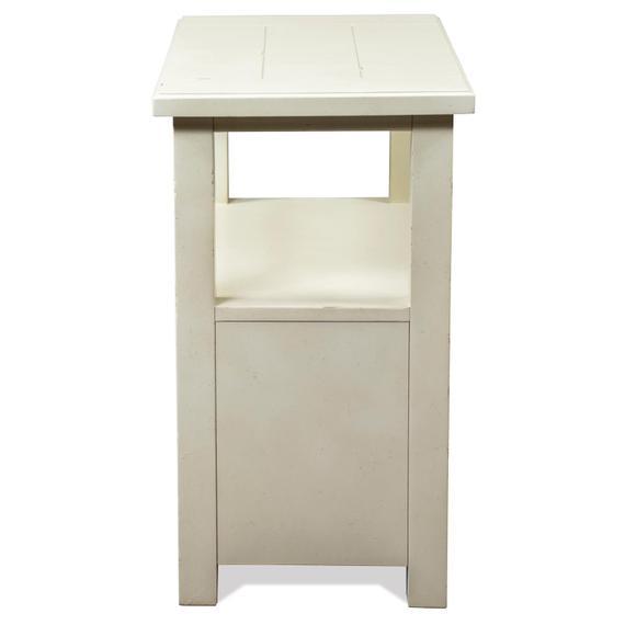 Riverside - Sullivan - Chairside Table - Country White Finish