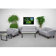 HERCULES Imperial Series Reception Set in Gray LeatherSoft
