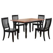 Product Image - Butterfly Leaf Dining Set w/Napoleon Chairs - Antique Black with Cherry (5 Piece)