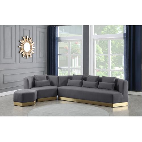 """Marquis Velvet Chair - 47.75"""" W x 38"""" D x 29"""" H"""