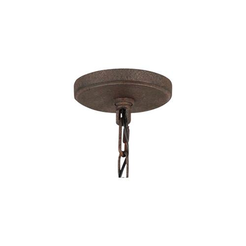 Loras Small Chandelier Dark Weathered Iron