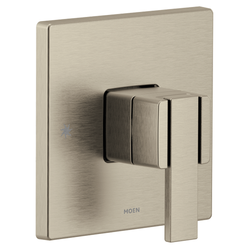 90 Degree brushed nickel m-core 3-series valve only