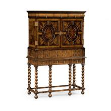 See Details - William & Mary Walnut & Oyster Secrétaire Cabinet