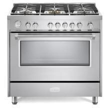 "See Details - Stainless Steel 36"" Designer Gas Range"