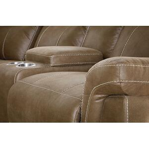 Boardwalk Manual Motion Reclining Loveseat with Console, Brown