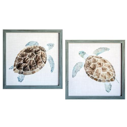 """Crestview Collections - """"SEA TURTLE 1&2"""""""