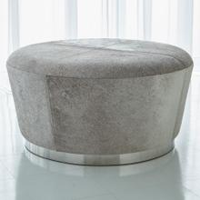 Tapered Ottoman-Grey Hair-on-Hide
