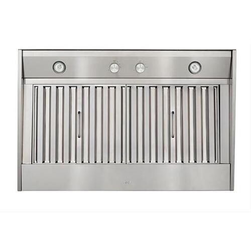 """46-3/8"""" Custom Hood Liner Insert designed for outdoor cooking in covered lanais 1250 Max CFM"""