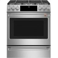 """Cafe™ 30"""" Smart Slide-In, Front-Control, Gas Range with Convection Oven"""